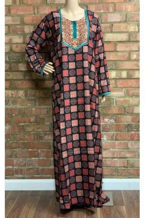 Home wear Jalabiya, embroidery work- 50015