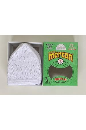 Mercan Turkish hats white 50027