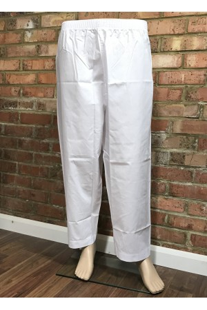 White polyester pants for boys 50024