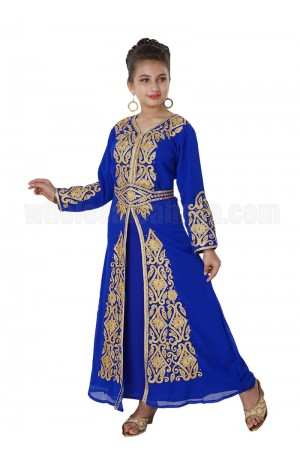 Farasha Long sleeves Girls Kaftan- 70086
