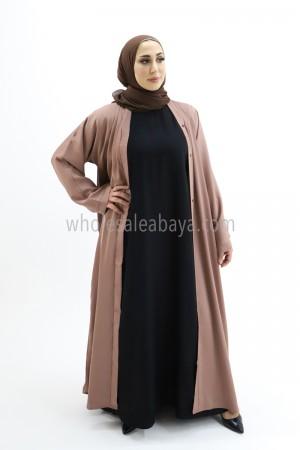 Classic Plain Nida Abaya 30051