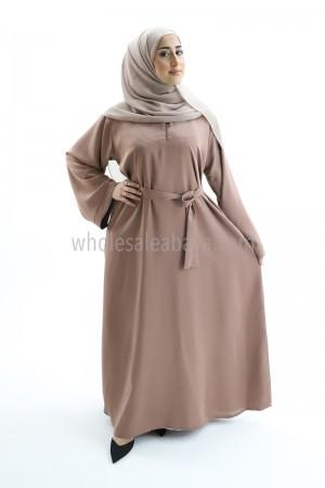 Nida Fabric Plain Abaya with Matching Belt 30418 C1