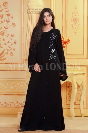 Classic Side Closed  Abaya - 30289
