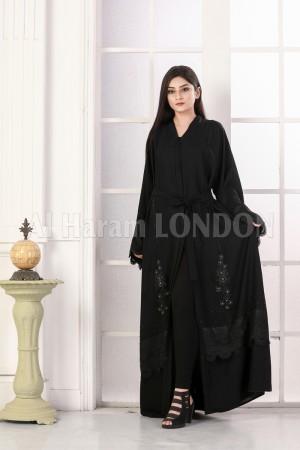 Belted Subtle Elegant Abaya - 30319