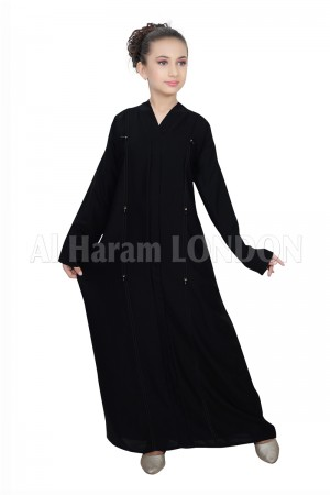 Black on Black Long Line Nida Abaya 70073