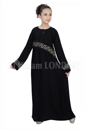 Bubble Stroke Designer Girls Abaya 70074