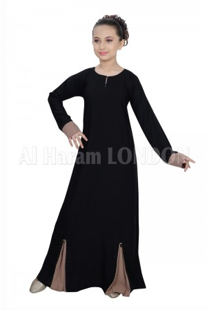 2 tone Flared Girls Abaya 70075
