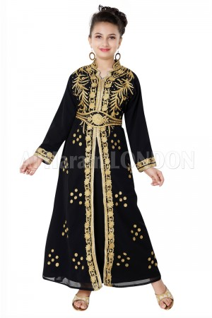 Golden Handwork  Party wear Girls Farasha 70078